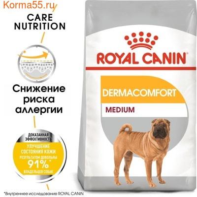 Сухой корм Royal canin MEDIUM DERMACOMFORT (фото, вид 2)