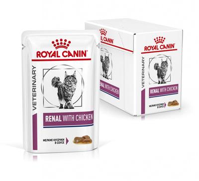 Влажный корм Royal canin RENAL C КУРИЦЕЙ пауч (фото, вид 1)