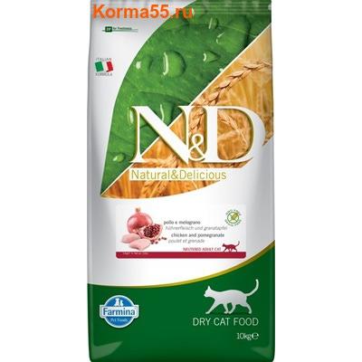 Сухой корм Farmina N&D Cat Chicken & Pomegranate Neutered (фото, вид 2)