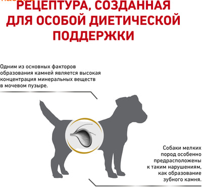 Сухой корм Royal canin URINARY S/O SMALL DOG USD 20 CANINE (фото, вид 2)
