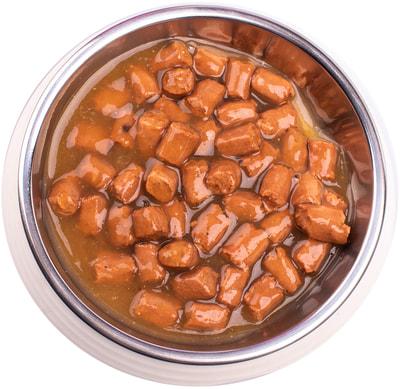 Влажный корм Gemon Dog для пожилых собак кусочки с индейкой (фото, вид 2)