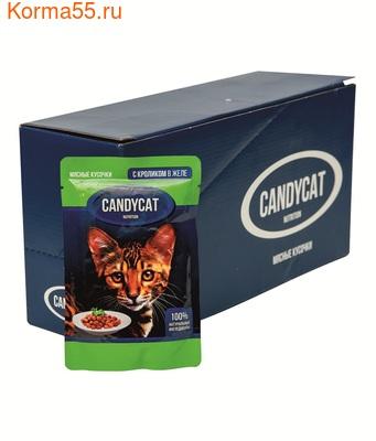 Влажный корм Candycat с кроликом в желе (фото, вид 2)