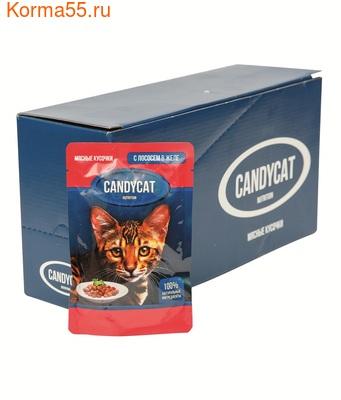 Влажный корм Candycat с лососем в желе (фото, вид 2)