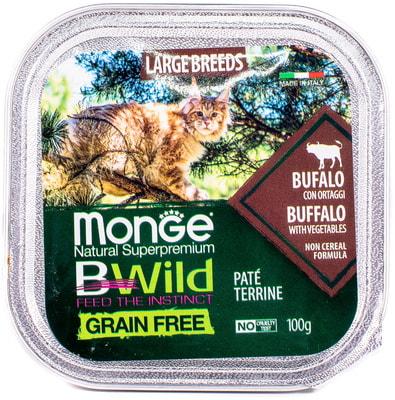 Влажный корм Monge BWild Cat Grain Free (буйвол и овощи) (фото, вид 1)