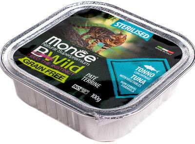 Влажный корм Monge BWild Cat Grain для стерилизованных кошек (тунец с овощами) (фото, вид 3)