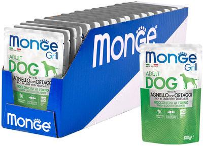 Влажный корм Monge GRILL для собак с ягненком и овощами (фото, вид 1)