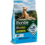 Сухой корм Monge Dog BWild GRAIN FREE Mini Adult Acciughe (анчоус, картофель и горох). Вид 2
