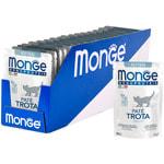 Влажный корм Monge Monoprotein для котят с форелью. Вид 2