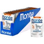 Влажный корм Monge Monoprotein для кошек с уткой. Вид 2