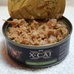 Влажный корм X-CAT индейка со шпинатом. Вид 2