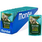 Влажный корм Monge Cat BWild Grain Free (из трески с креветками и овощами). Вид 2