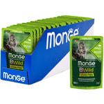 Влажный корм Monge Cat BWild Grain Free для стерилизованных кошек (кабан с овощами). Вид 2