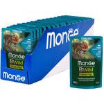 Влажный корм Monge Cat BWild Grain Free для стерилизованных кошек (тунец, креветки с овощами). Вид 2