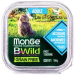 Влажный корм Monge BWild Cat Grain Free (из анчоуса с овощами). Вид 2
