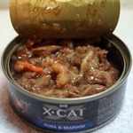 Влажный корм X-CAT тунец с морепродуктами. Вид 2