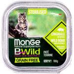 Влажный корм Monge BWild Cat Grain Free для стерилизованных кошек (кабан с овощами). Вид 2