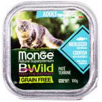 Влажный корм Monge BWild Cat Grain Free для стерилизованных кошек (треска и овощи). Вид 2