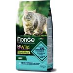 Сухой корм Monge Cat BWild GRAIN FREE Merluzzo (треска, картофель и чечевица). Вид 2