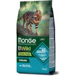 Сухой корм Monge Cat BWild GRAIN FREE Sterilised Tonno (тунец). Вид 2