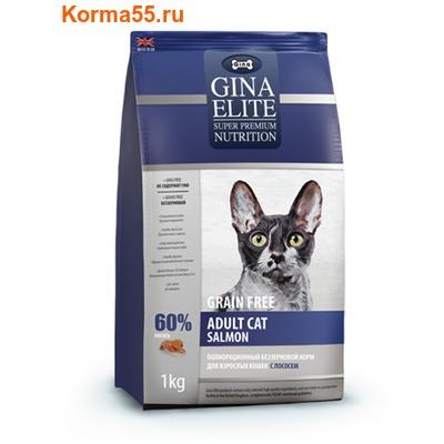 Gina Elite Grain Free Adult Cat Salmon (Великобритания) (фото)