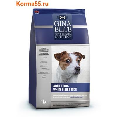 Gina Elite Adult Dog White fish & Rice (Великобритания) (фото)