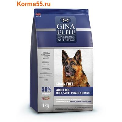 Gina Elite Grain Free Adult Dog Duck, Sweet Potato, Orange (Великобритания) (фото)