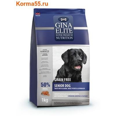 Gina Elite Grain Free Senior Dog Trout, Salmon, Sweet Potato, Asparagus (Великобритания) (фото)