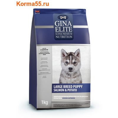 Gina Elite Large Breed Puppy Salmon & Potato (Великобритания)