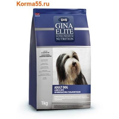 Gina Elite Dog Lamb & Rice with Verm-X (Великобритания)