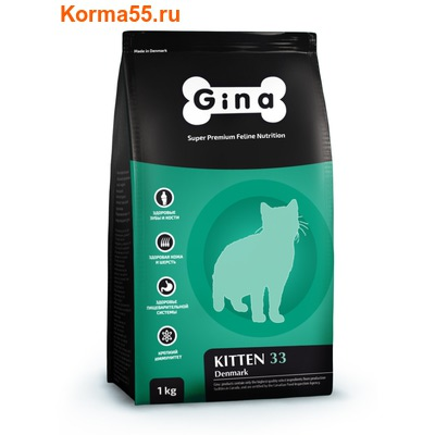Сухой корм Gina Kitten 33 Denmark