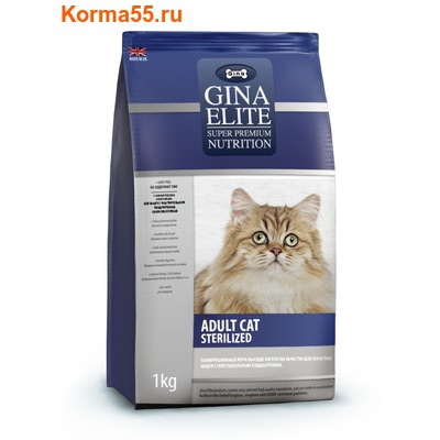 Gina Elite Adult Cat Sterilized (Великобритания) (фото)