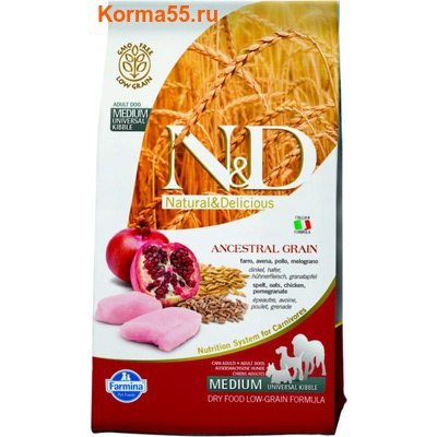 Farmina N&D Low Grain Chicken & Pomegranate Adult
