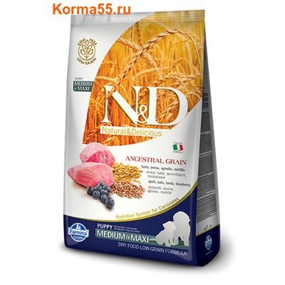 Farmina N&D Low Grain Dog Lamb & Blueberry Puppy Medium & Maxi