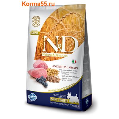Farmina N&D Low Grain Dog Lamb & Blueberry Puppy Mini