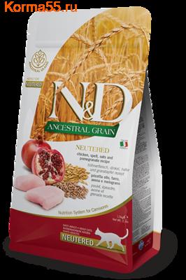 Сухой корм Farmina N&D Low Grain Cat Chicken & Pomegranate Neutered (фото)