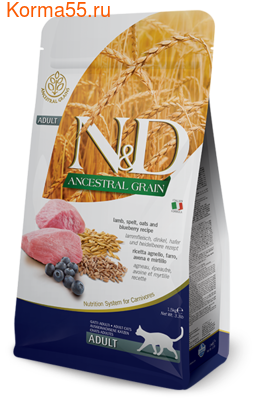 Сухой корм Farmina N&D Low Grain Cat Lamb & Blueberry (фото)