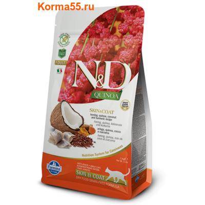 Сухой корм Farmina N&D Cat Quinoa Skin & Coat Herring