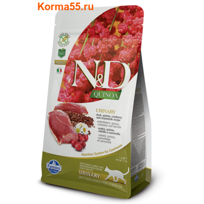 Сухой корм Farmina N&D Cat Quinoa Urinary Duck