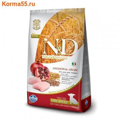 Farmina N&D Low Grain Dog Chicken & Pomegranate Puppy Mini