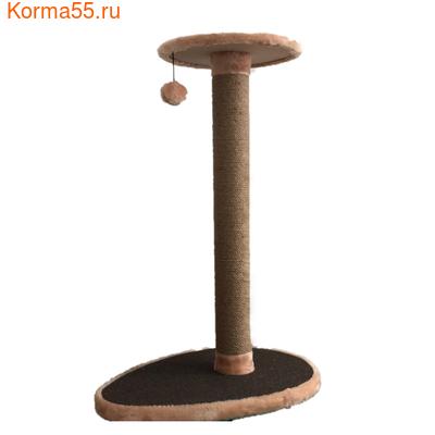 Когтеточка Столбик Капля 100см с площадкой №023