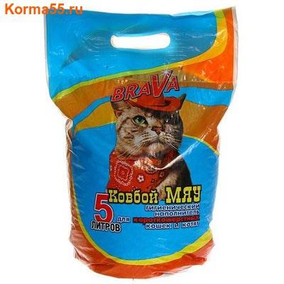 Наполнитель BraVa КОВБОЙ МЯУ для короткошерстных кошек и котят