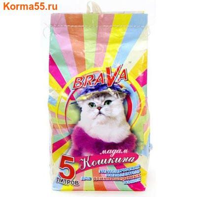 Наполнитель BraVa МАДАМ КОШКИНА для длинношерстных кошек