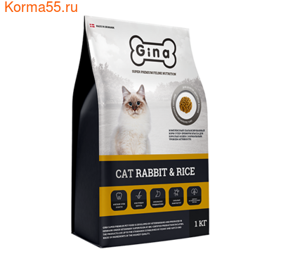 Сухой корм Gina Cat Rabbit&Rice Denmark (фото)