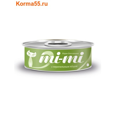 Влажный корм Mi-mi с перепелиным яйцом (фото)