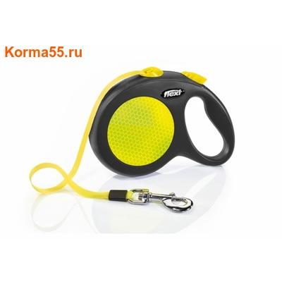Рулетка-ремень Flexi Neon L 5м, до 50кг