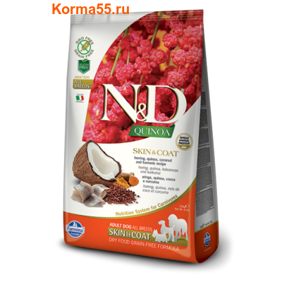Farmina N&D Dog Quinoa Skin&Coat Herring