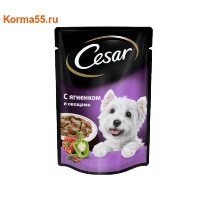 Пауч CESAR с ягненком и овощами