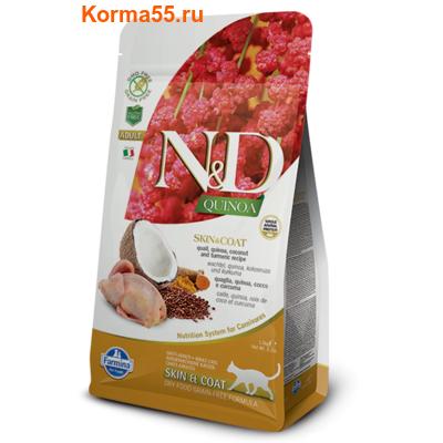 Сухой корм Farmina N&D Cat Quinoa Skin & Coat Quail