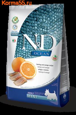 Сухой корм Farmina N&D Dog GF Ocean Herring & Orange Adult Mini