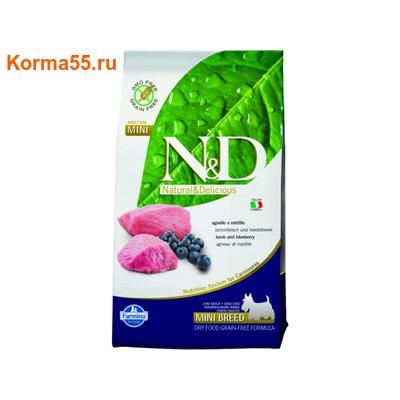 Сухой корм Farmina N&D Dog GF Lamb & Blueberry Adult Mini